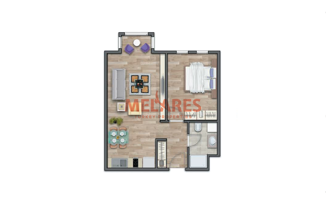 This 1 Bedroom Apartment Combines Modern Architecture with Comfort